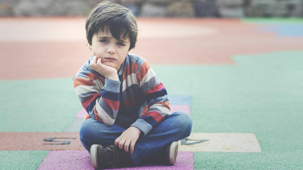 PSYKISKE PROBLEMER: Også barn kan få alvorlige psykiske lidelser, noe som vil påvirke hele familien Foto: NTB Scanpix