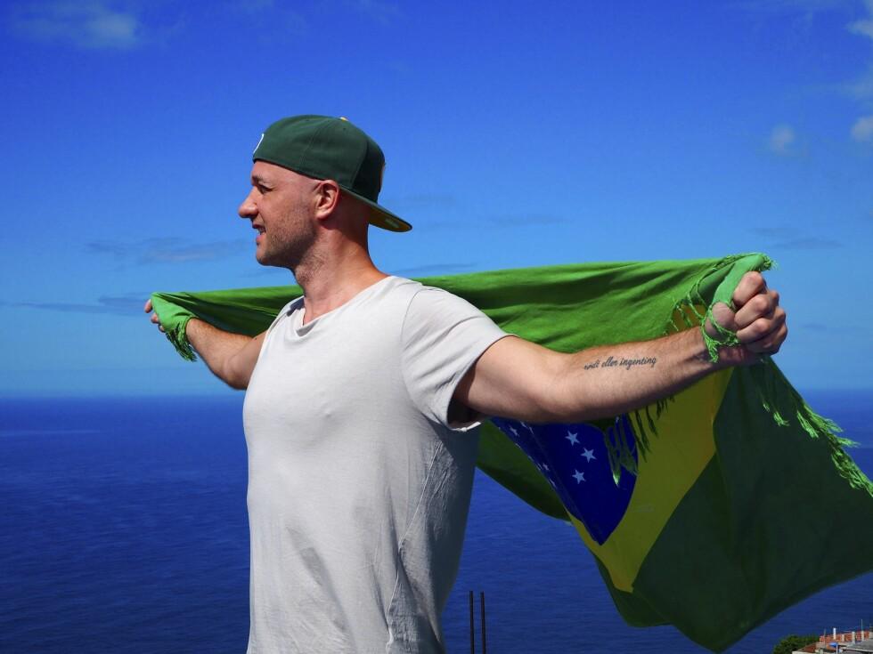 FANT DRØMMEN I BRASIL: – Rio er stedet i mitt hjerte. Etter ti år som trekkfugl har jeg endelig fått eget rede i byen, forteller KKs journalist Tommy Halvorsen. Foto: Privat