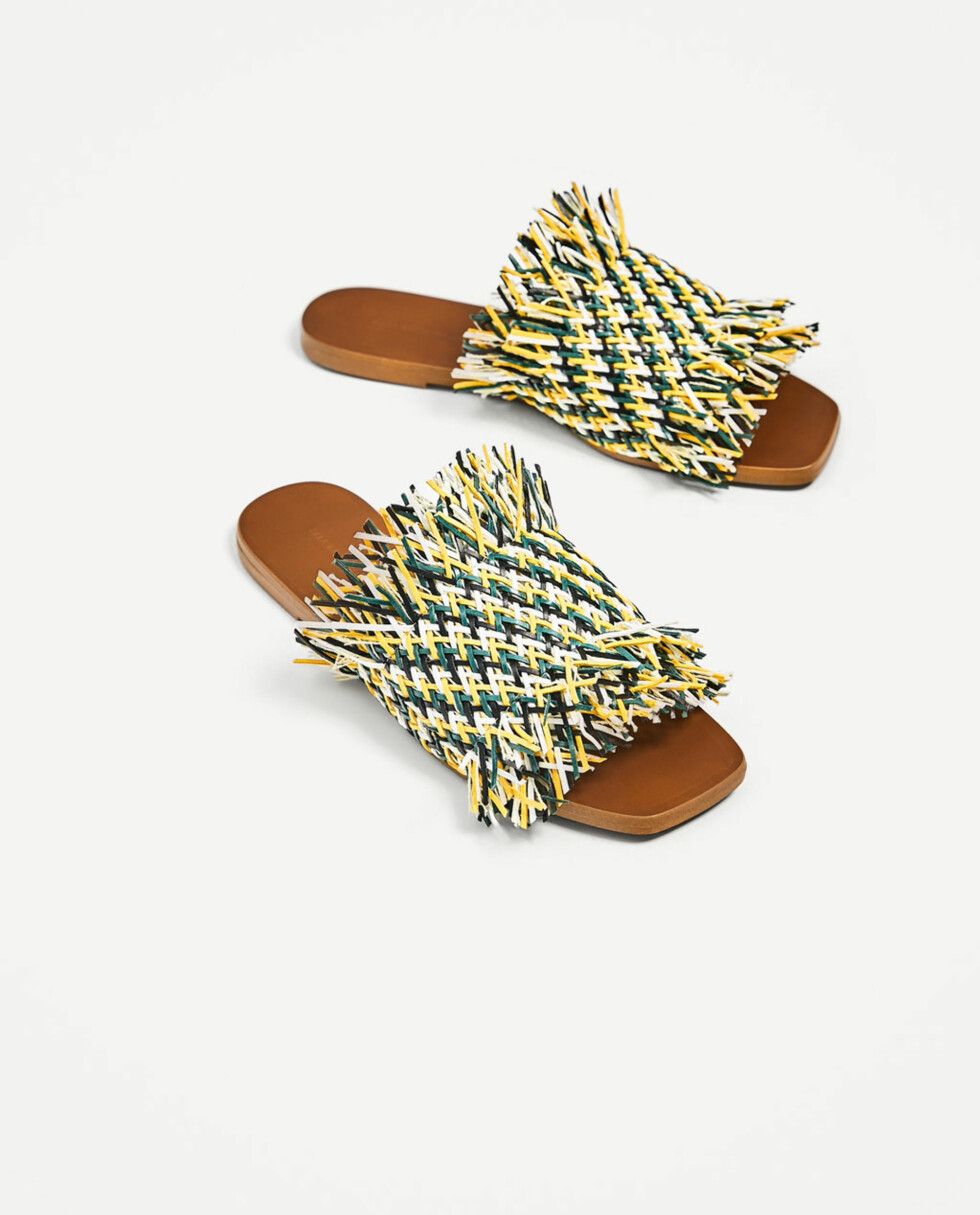 <strong>Sandaler fra Zara | kr 559 | https:</strong>//www.zara.com/no/no/samling/flat-flettet-sandal-i-flere-farger-c939004p4530012.html