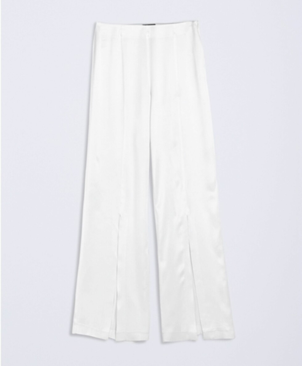 <strong>Bukse fra Gina Tricot | kr 499 | http:</strong>//www.ginatricot.com/cno/no/kolleksjon/exclusive/cissi-satin-trousers/prod775601420.html
