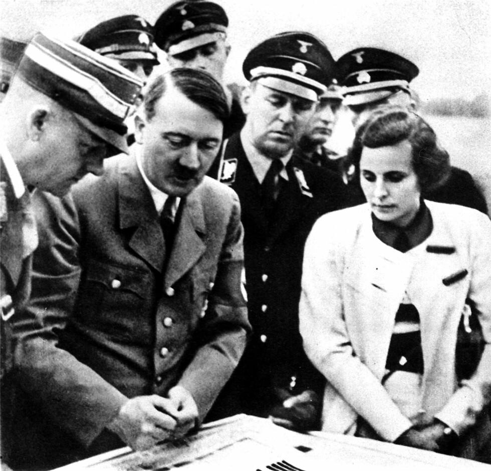 LENI RIEFENSTAHL: Den kvinnelige filmskaperen samarbeidet tett med Adolf Hitler på 30-tallet med å lage propagandafilmer. Foto: NTB Scanpix