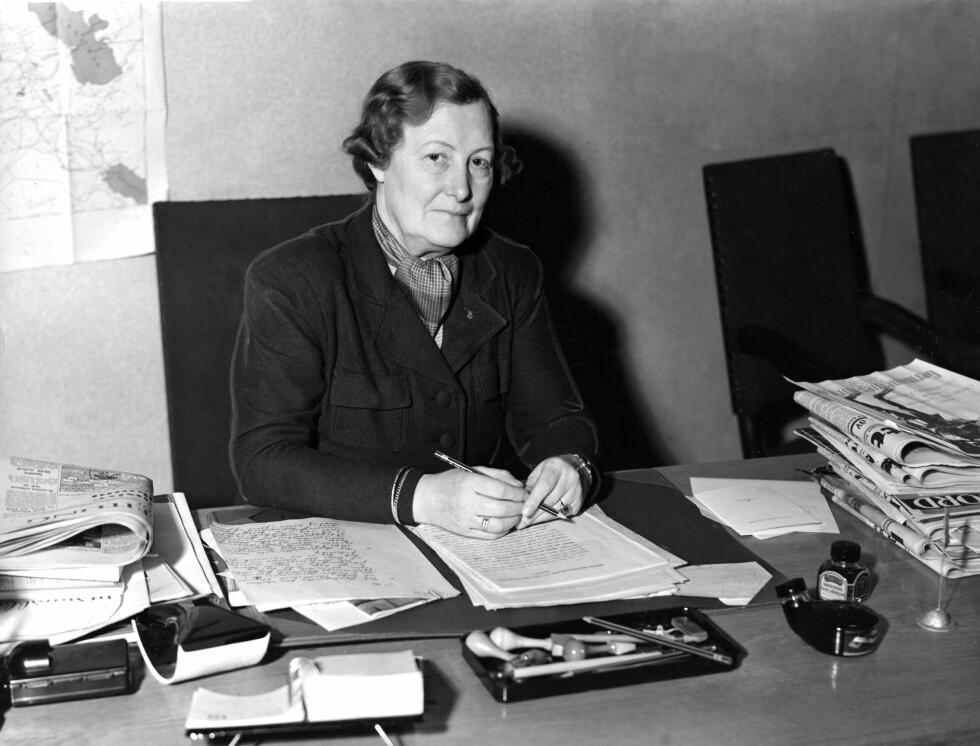 OLGA BJONER: Leder for Nasjonal Samlings Kvinneorganisasjon. Foto: NTB Scanpix