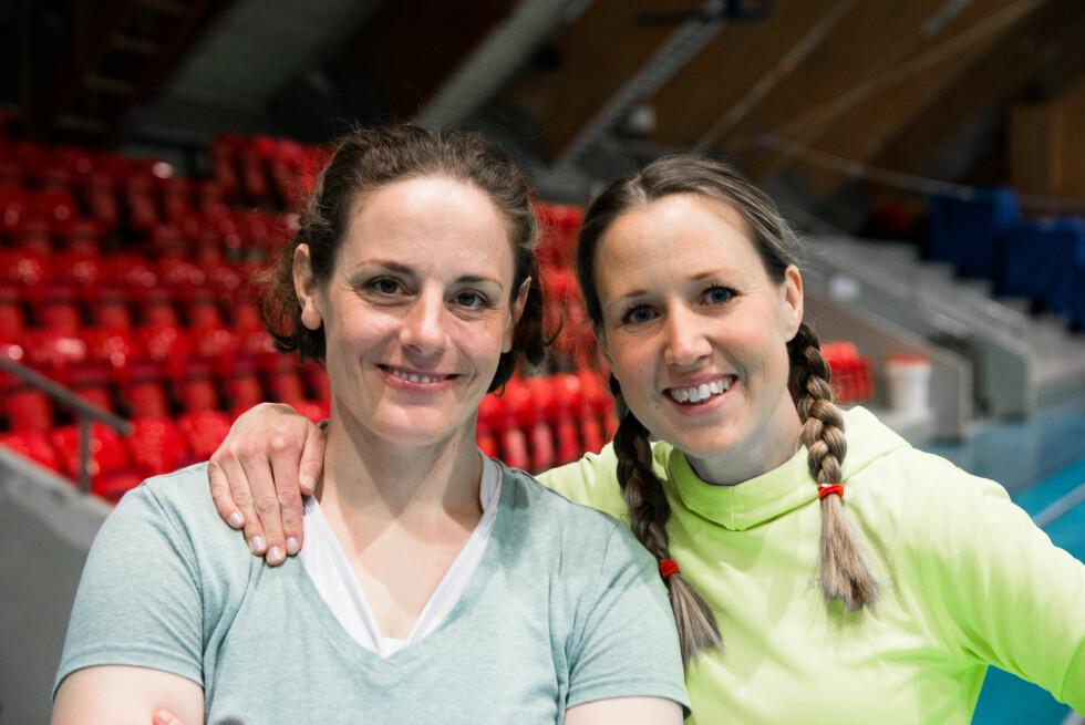 TRYGGHET: Sandra Pilny-Lockertsen og Anne-Karin Lindblad sier å kunne selvforsvar gir selvtillit og trygghet.