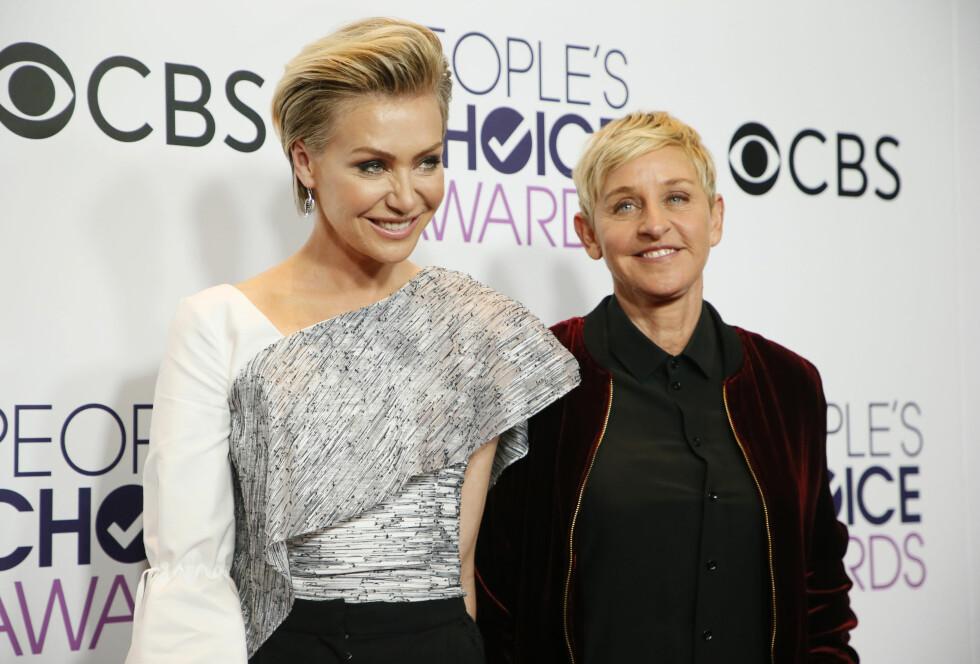 ELLEN DEGENERES: Ellen og Portia møtte hverandre i 2004, og er i dag lykkelig gift.  Foto: Reuters