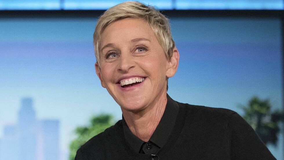 ELLEN DEGENERES: I år er det 20 år siden Ellen DeGeneres sto frem som homofil.  Foto: AP