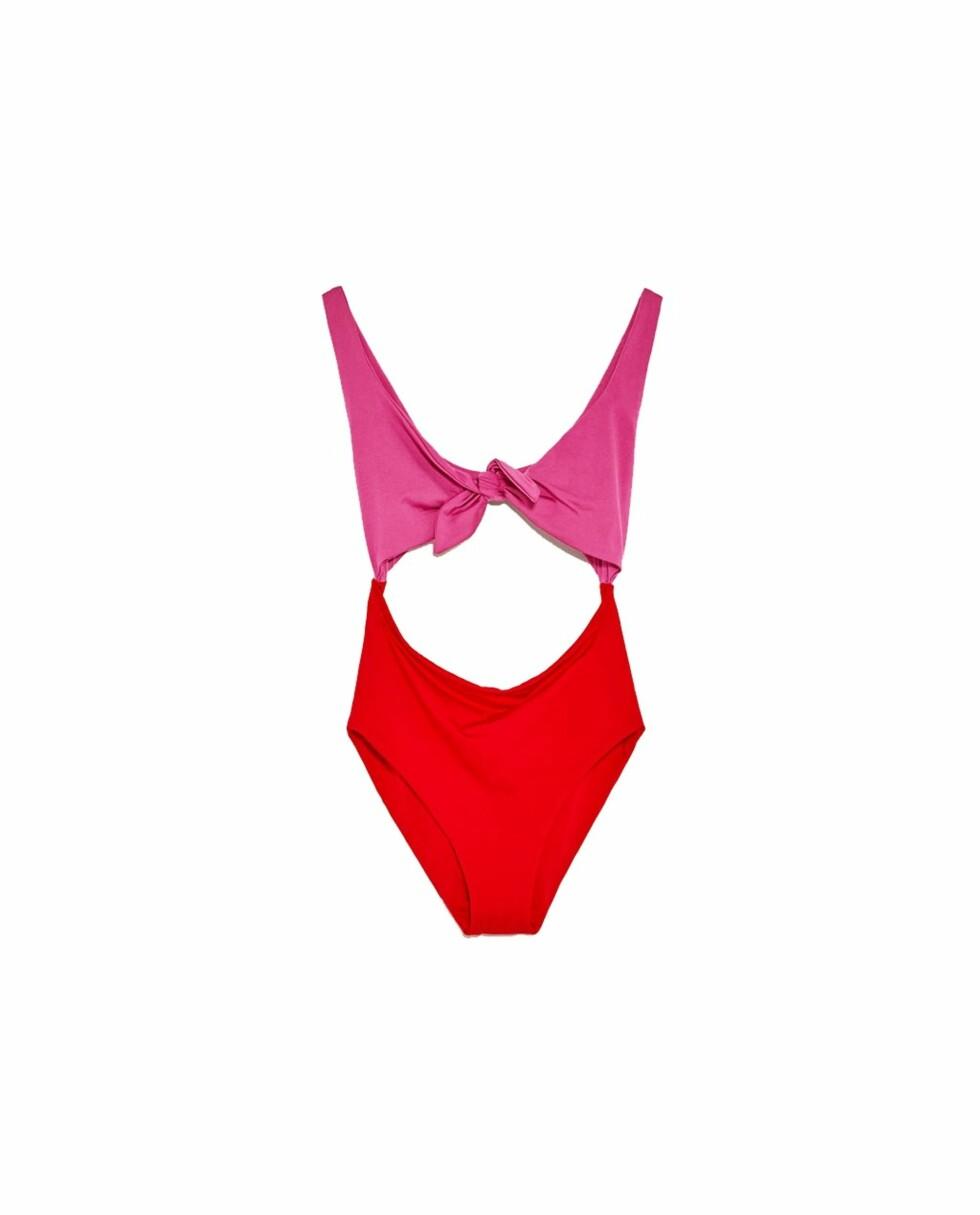 Rød og rosa badedrakt fra Zara | kr 249 | https://www.zara.com/no/no/dame/swimwear-collection/badedrakt-med-knute-c398505p4382513.html
