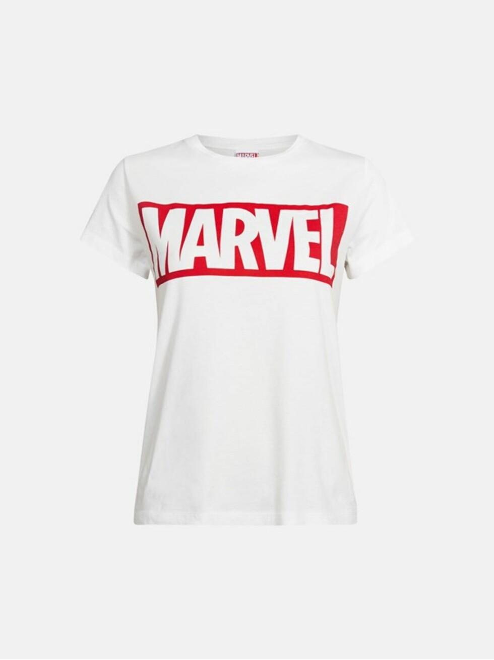 T-skjorte med Marvel-trykk fra Bik Bok | kr 249 | https://bikbok.com/no/7202885_F002