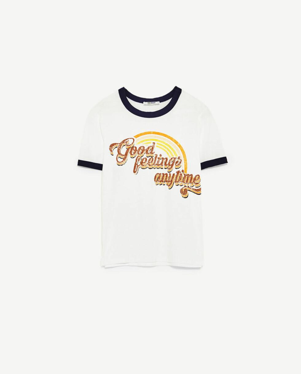 T-skjorte fra Zara | kr 59 | https://www.zara.com/no/no/dame/t-skjorter/kort-arm/vintage-t-skjorte-med-grafikk-c401008p4634005.html