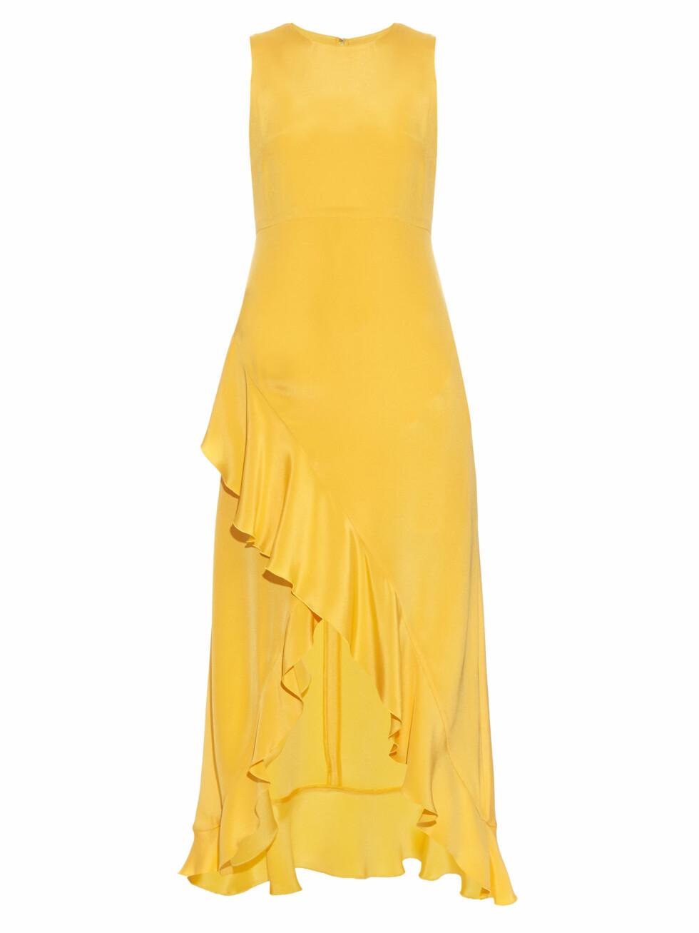 Kjole fra Raey via Matchesfashion.com | kr 1540 | http://www.matchesfashion.com/intl/products/Raey-Ruffled-silk-midi-dress-1069494