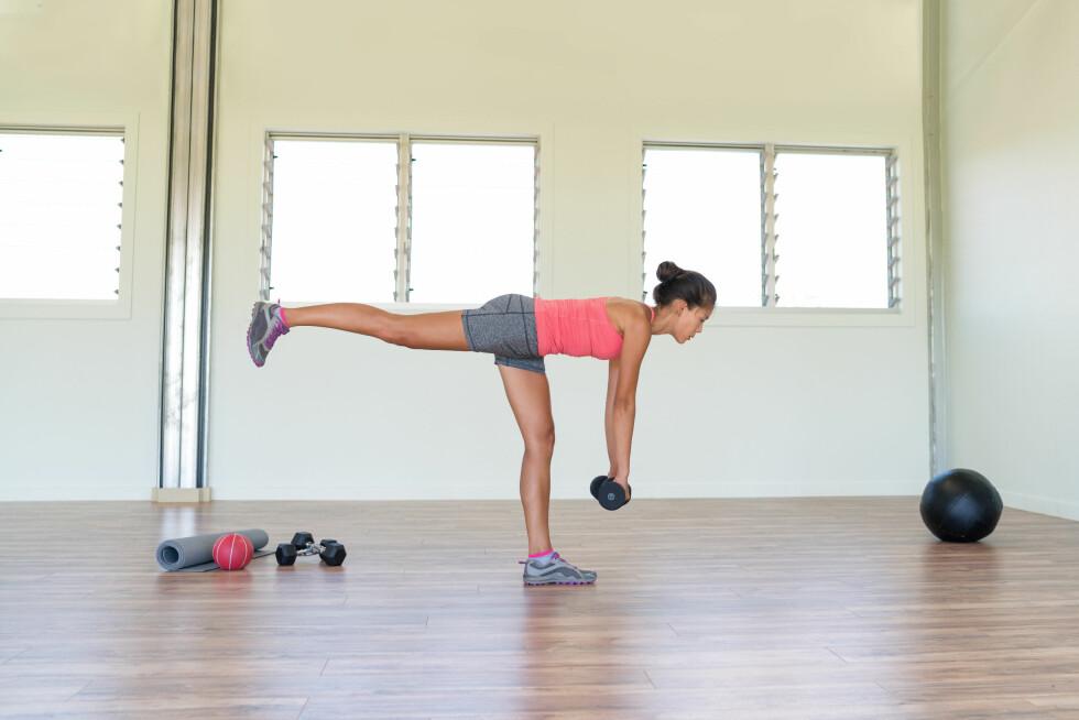 ETTBENSØVELSER: Styrker musklene og er god stabilitetstrening, som igjen minsker risikoen for skader.  Foto: Scanpix