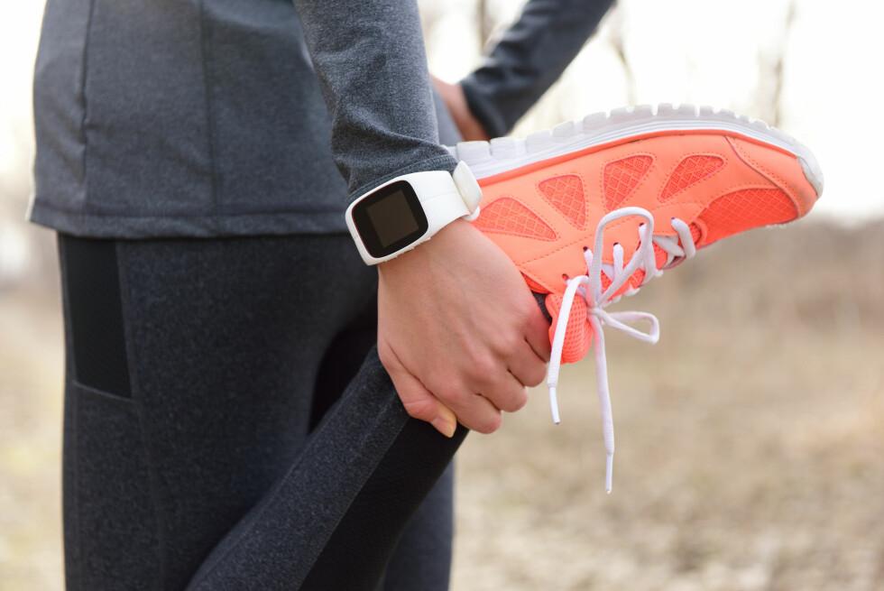 STYRKETRENING: Litt styrketrening må til, sammen med god oppvarming, om du skal bli en god løper.  Foto: NTB Scanpix