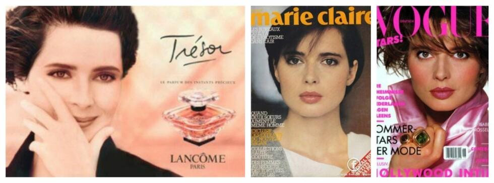 SUPERMODELL: Isabella frontet Lancômes parfyme Trésor i 1990. På 80- og 90-tallet var hun å se på utallige cover av magasiner som Vogue og Marie Claire.