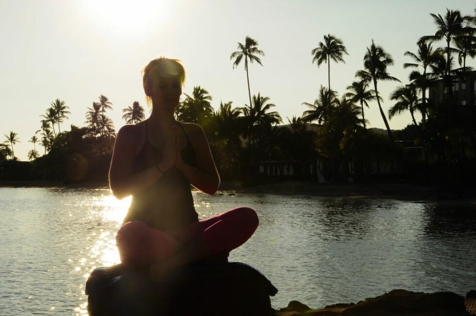 YOGA BLE REDNINGEN: For Caroline ble yoga-trening en vei ut av spiseforstyrrelsen. Foto: Christine Hanisch