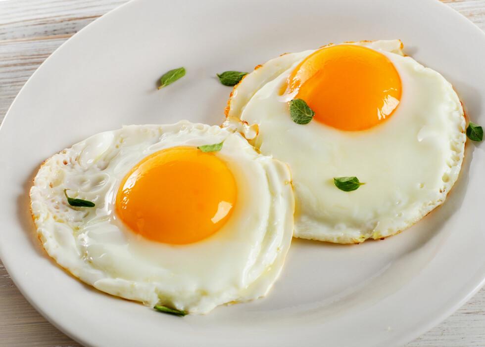 TO EGG OM DAGEN: Ifølge eksperten kan du fint spise to egg om dagen dersom du ønsker det.  Foto: bit24 - Fotolia
