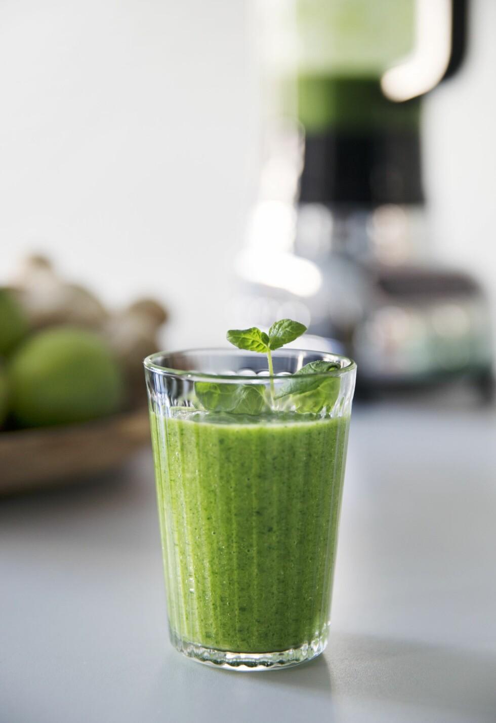Great Green Monster-smoothie Foto: Yvonne Wilhelmsen