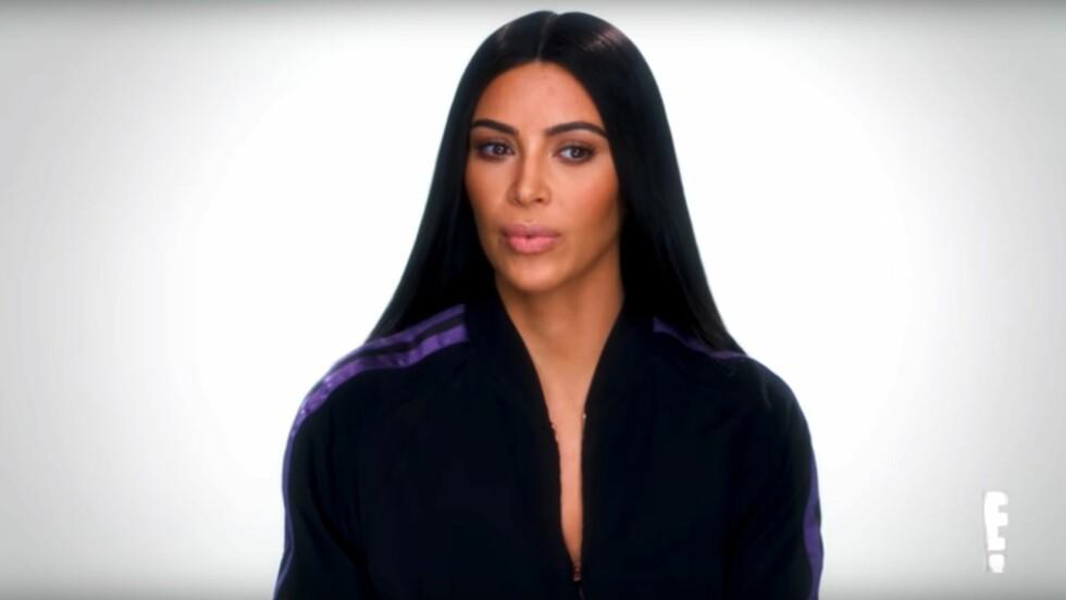 KIM KARDASHIAN: I den ferske episoden av «Keeping Up With The Kardashians» forteller Kim om det brutale Paris-ranet i fjor.  Foto: Skjermdump: YouTube