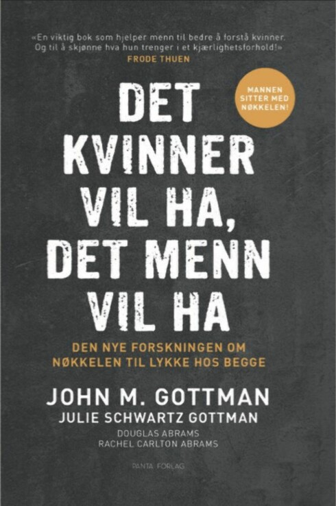 SAMLIVSBOK: Det er mannen som sitter på nøkkelen for et lykkelig samliv hvder forsker John M. Gottman