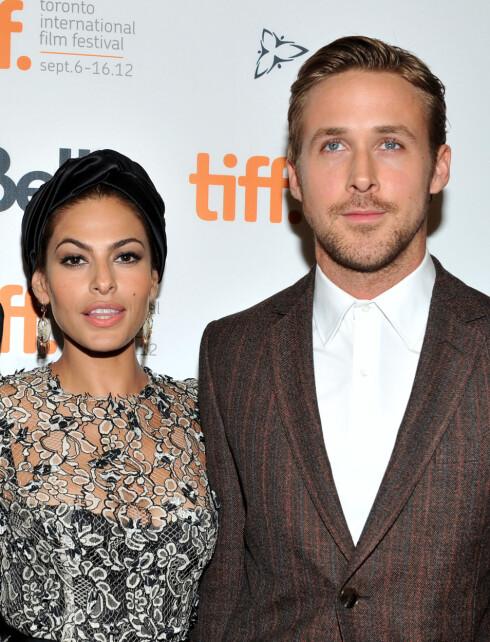 MØTTES UNDER INNSPILLING: Ryan Gosling og Eva Mendes møttes under innspillingen av «The Place Beyond The Pines» i 2012. Foto: Afp