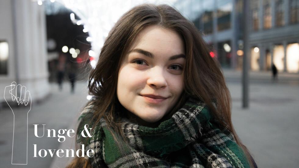 GRØNN BLOGGER: Frida Ottesen var med i Aftenposten-serien Sweatshop, og engasjerer seg fortsatt for en grønnere verden. Foto: Hanne Bernhardsen Nordvåg
