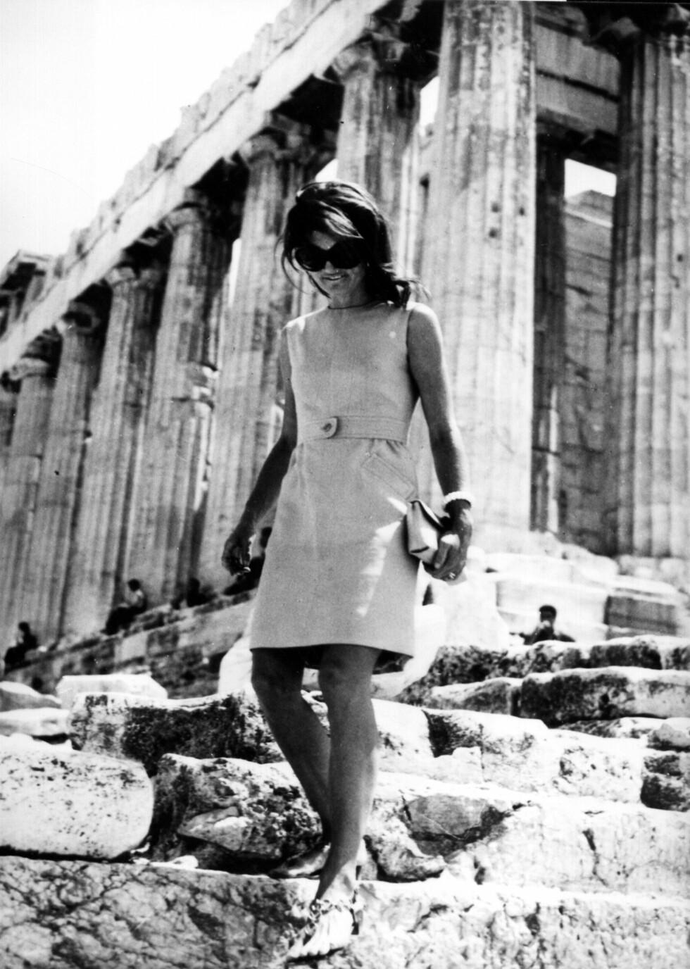 1969: Jackie Kennedy Onassis i Athen. Foto: akg-images