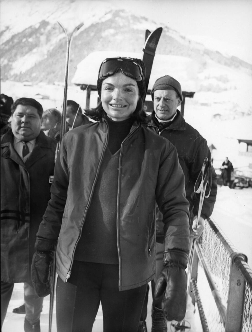 1966: Jackie Kennedy i Sveits. Foto: Zuma press