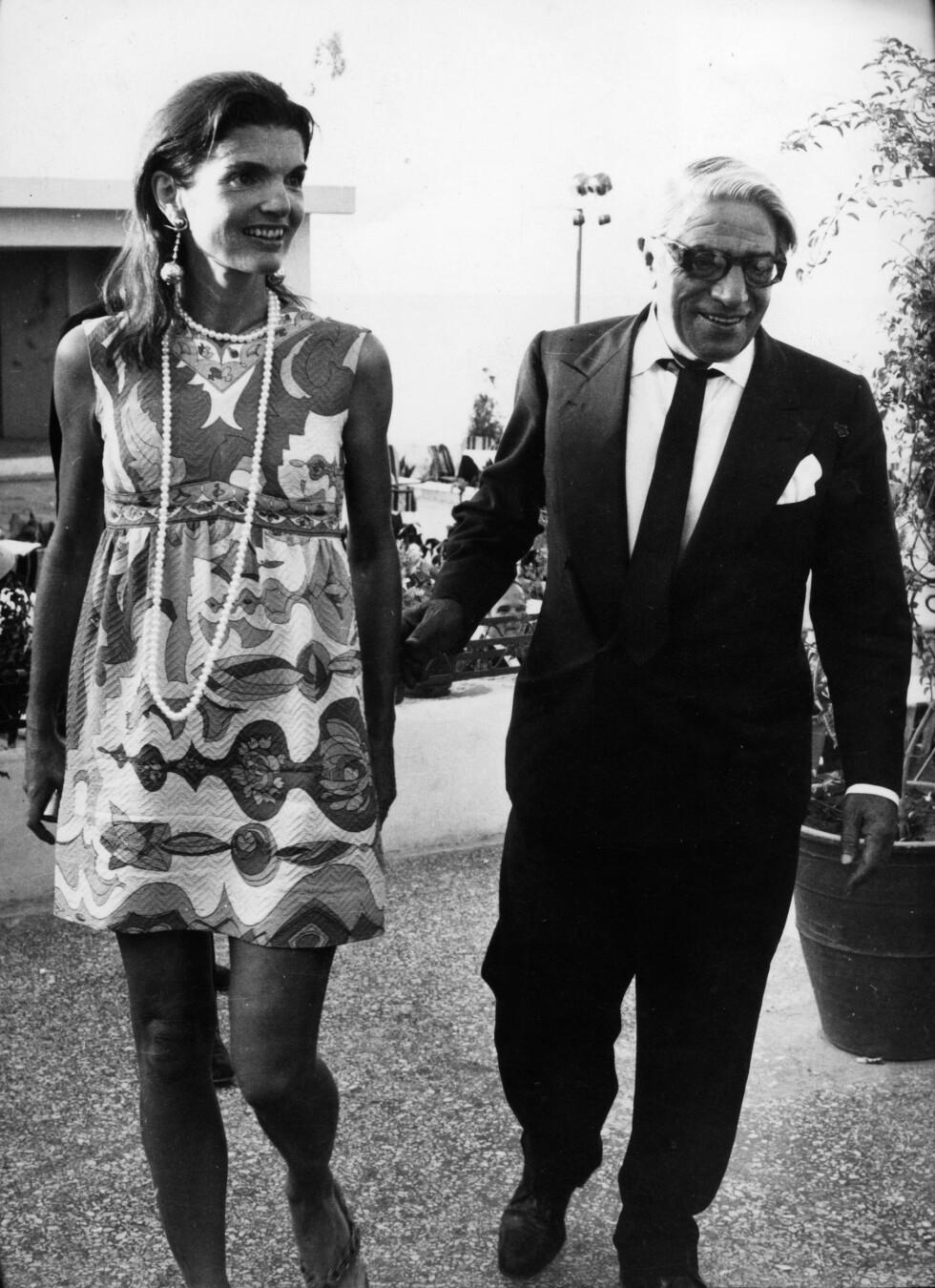 1973: Jackie Kennedy Onassis og ektemannen Aristotles Onassis.  Foto: Zuma press