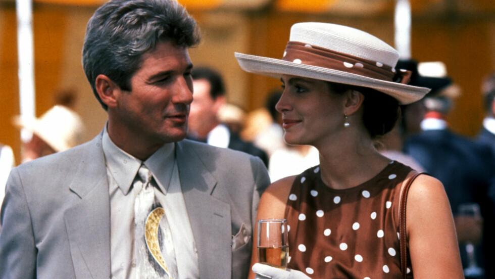 PRETTY WOMAN: Richard Gere og Julia Roberts spilte forretningsmannen Edward Lewis og luksusprostituerte Vivian Ward i filmen Pretty Woman som ble lansert 23. mars 1990. Foto: NTB scanpix