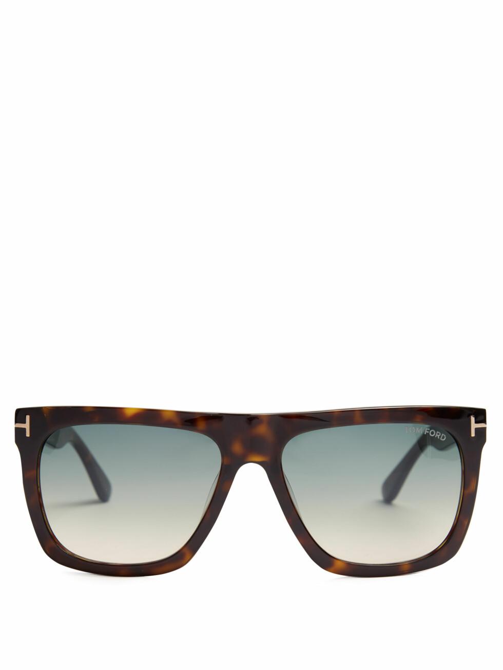 Solbriller fra Tom Ford via Matchesfashion.com   kr 2085   http://www.matchesfashion.com/intl/products/Tom-Ford-Eyewear-Morgan-flat-top-sunglasses--1097182