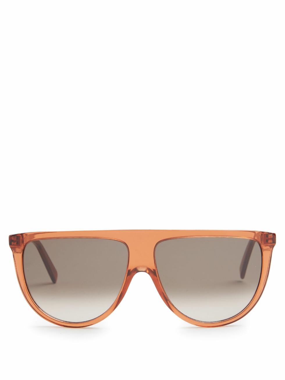Solbriller fra Celine via Matchesfashion.com   kr 1905   http://www.matchesfashion.com/intl/products/C%C3%A9line-Eyewear-Shadow-flat-top-sunglasses-1077835