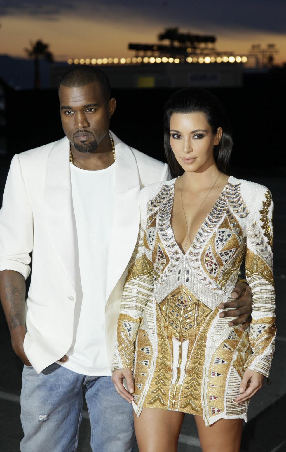 2012: Kim Kardashian og Kanye West Foto: Ap