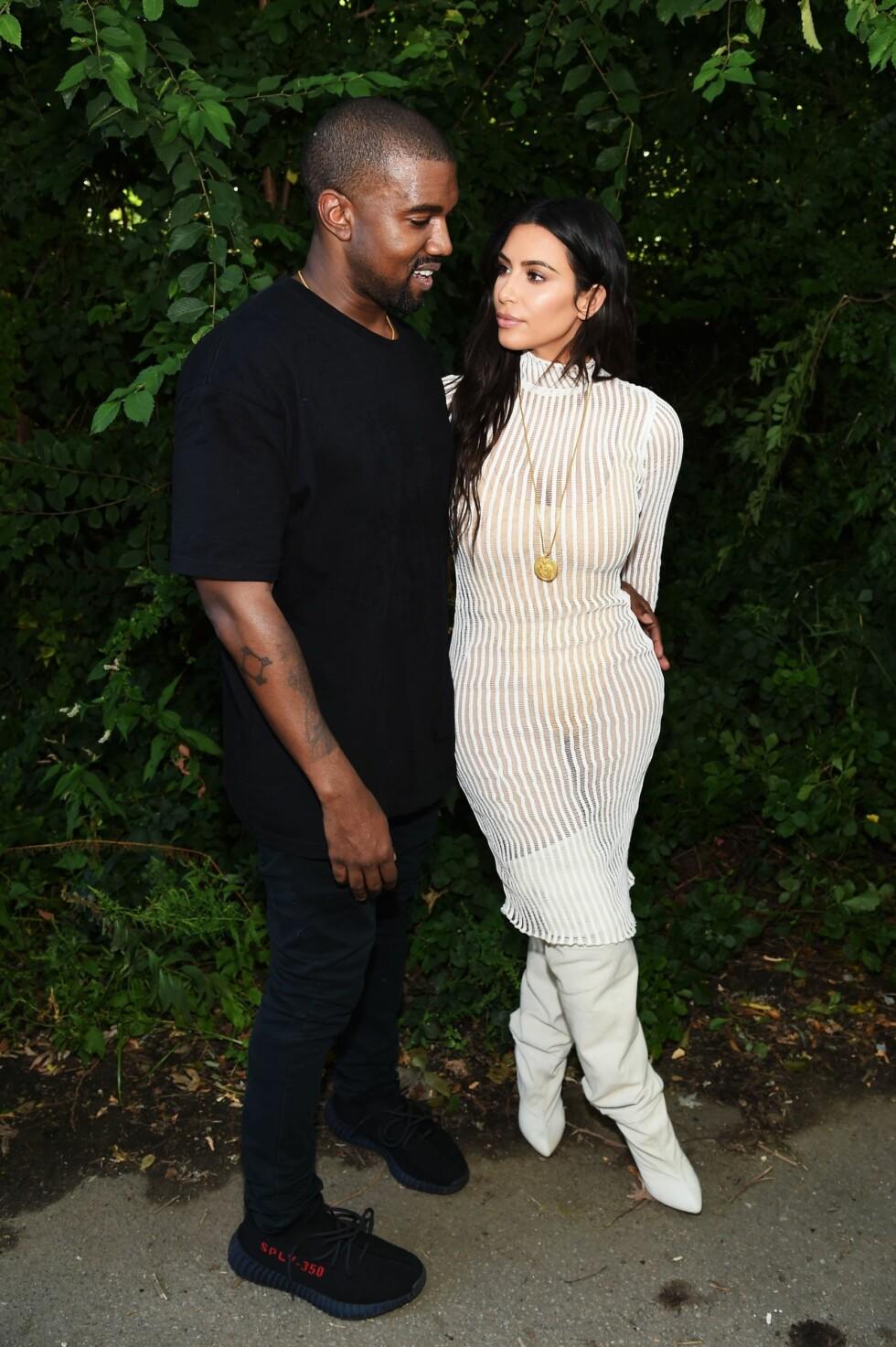 2016: Kim Kardashian og Kanye West Foto: Afp