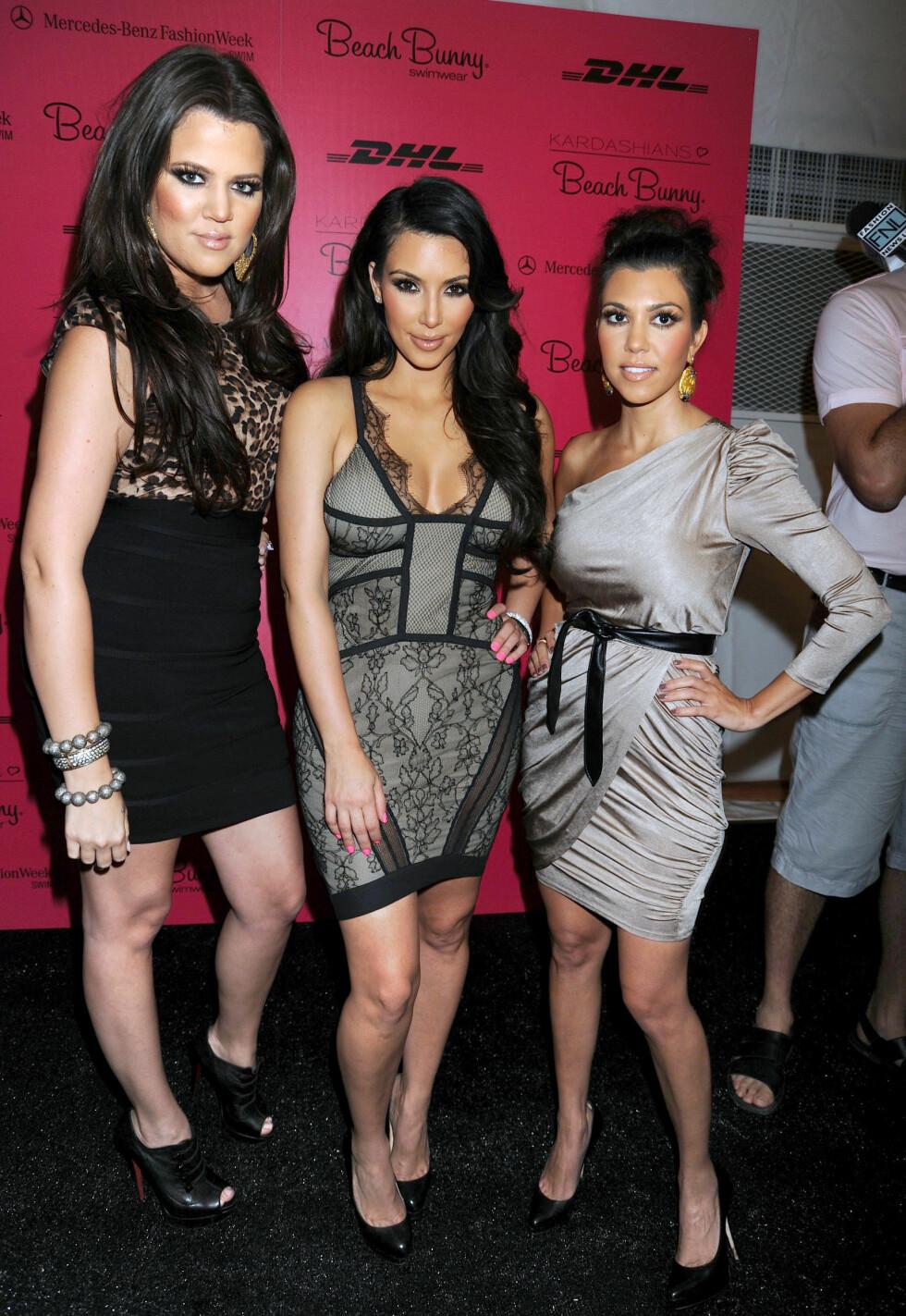 2010: Khloe Kardashian, Kim Kardashian og Kourtney Kardashian Foto: Pa Photos