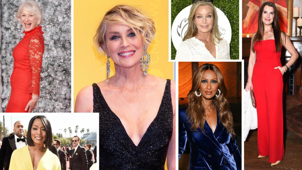HOLLYWOOD: Disse kjendisdamene har alle bikket 50 år - og noen er til og med over 60 og 70! Scroll deg ned i saken for å se flere freshe Hollywood-babes! Foto: NTB Scanpix