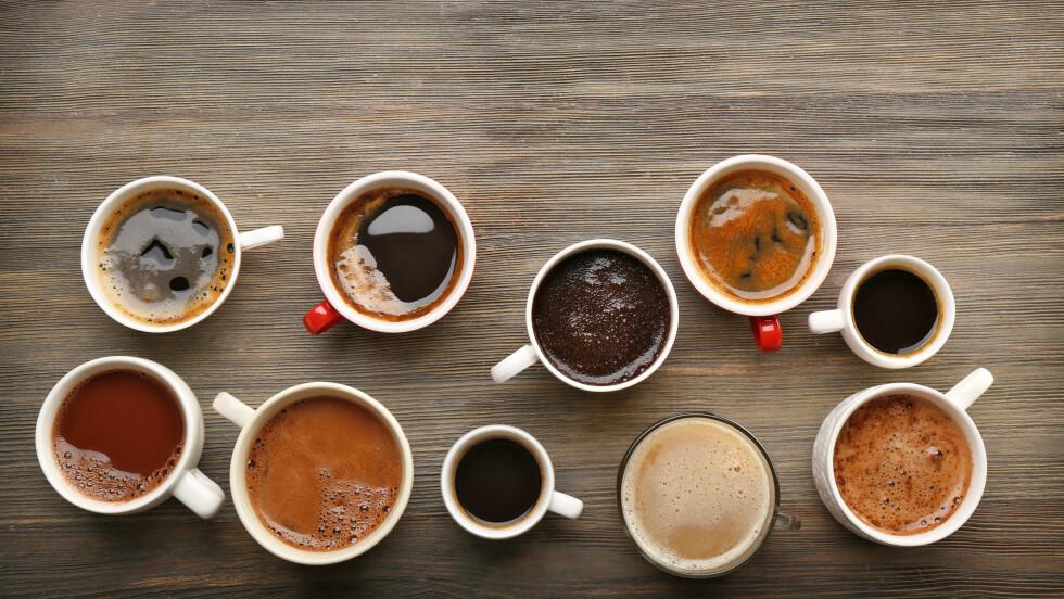 KOFFEIN: Visste du at det er mulig å få i seg for mye koffein? Dette mener ekspertene du bør være obs på om du er kaffe-elsker! FOTO: Shutterstock / Africa Studio