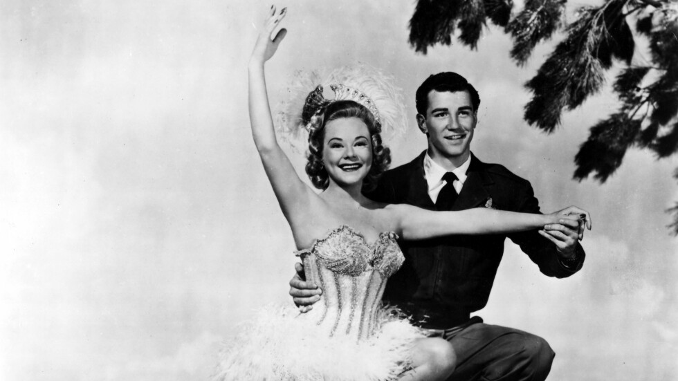 SONJA HENIE: Sonja Henie i filmen «The Countess of Monte Cristo» sammen med motspiller Michael Kirby i 1948.  Foto: NTB scanpix