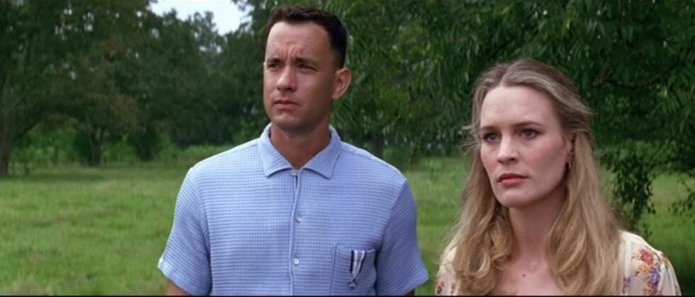 SOM VOKSNE: Det var Tom Hanks og Robin Wright som spilte voksenutgavene av Forrest og Jenny.  Foto: Screenshot: Forrest Gump