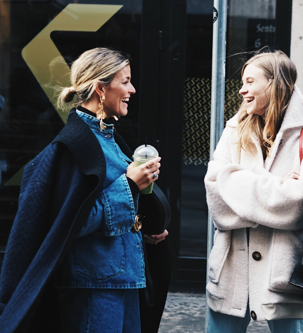 OSLO RUNWAY: Janka Polliani og Tine Andrea Foto: Malin Gaden