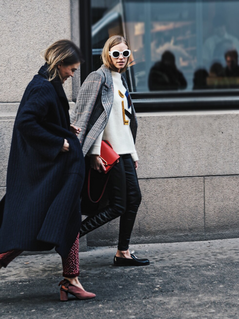 OSLO RUNWAY: Gine Margrethe og Tine Andrea Foto: Malin Gaden