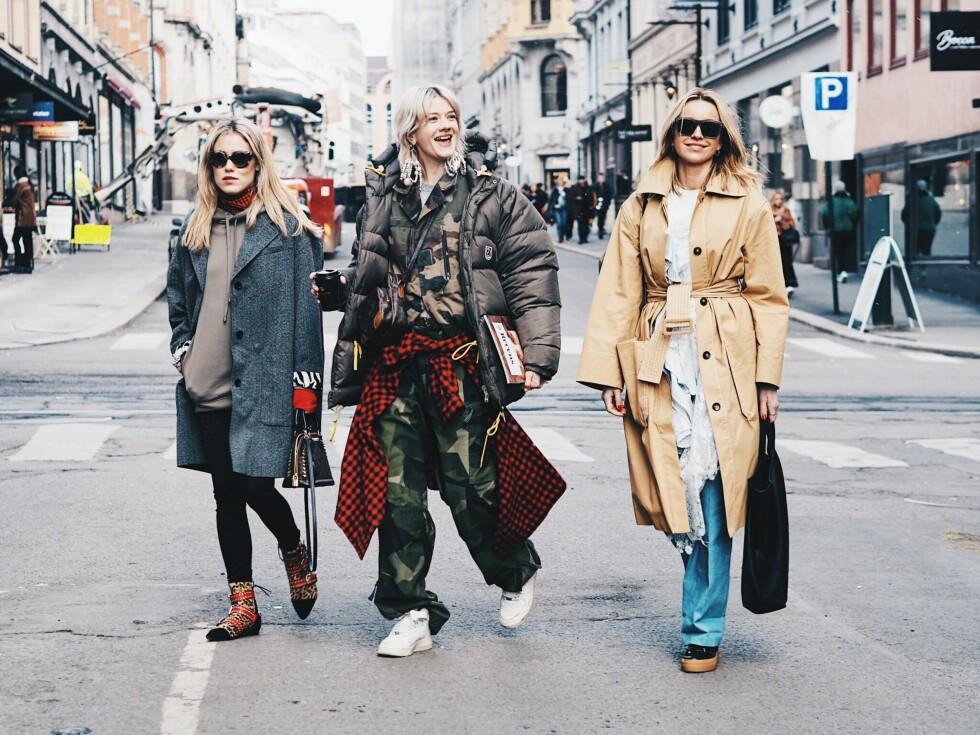 OSLO RUNWAY: Annabel Rosendahl, Marianne Theodorsen og Hege Aurelie Badendyck Foto: Malin Gaden