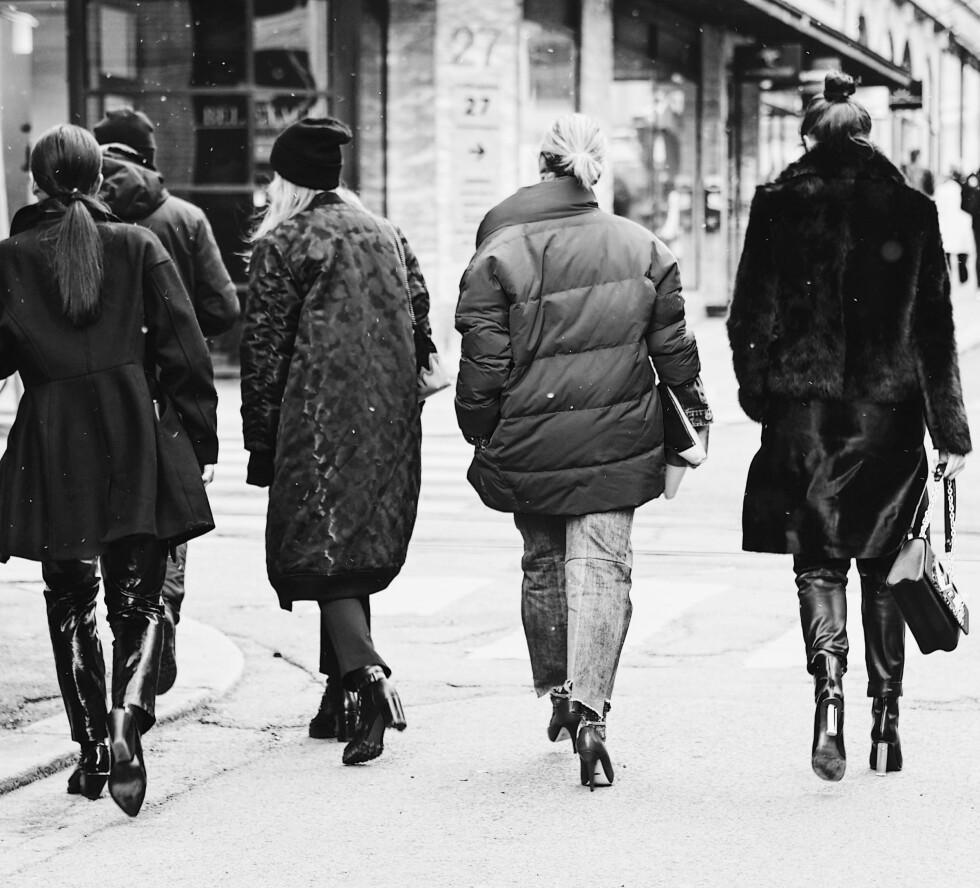 OSLO RUNWAY: Katarina Petrovic, Tine Andrea, Janka Polliani og Darja Barannik Foto: Malin Gaden