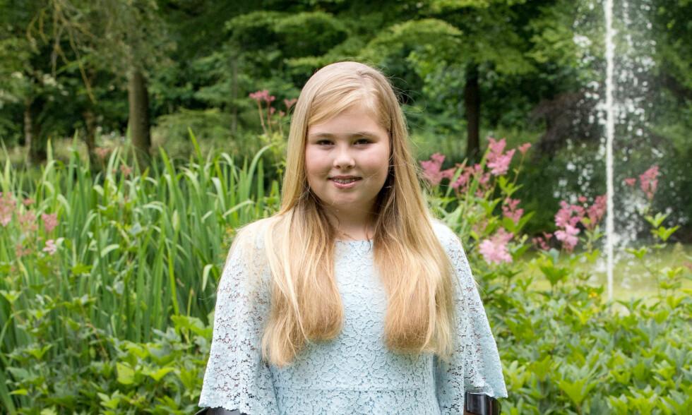 <strong>PRINSESSE CATHARINA-AMALIA:</strong> Hun er nummer en i arvefølgen til Nederlands trone.  Foto: NTB scanpix