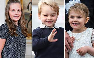 Disse unge prinsene og prinsessene skal én dag overta tronene i de europeiske kongehus