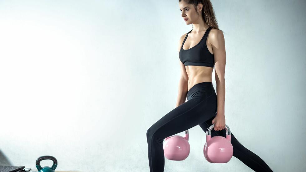 KETTLEBELL: Neste gang du skal på trening, prøv kettlebell!  Foto: Shutterstock / Ajan Alen