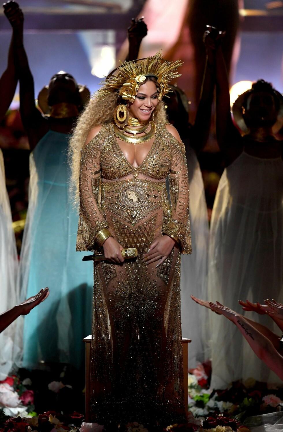 GRAMMY AWARDS: Publikum i full jubel for Beyonce. Foto: AFP
