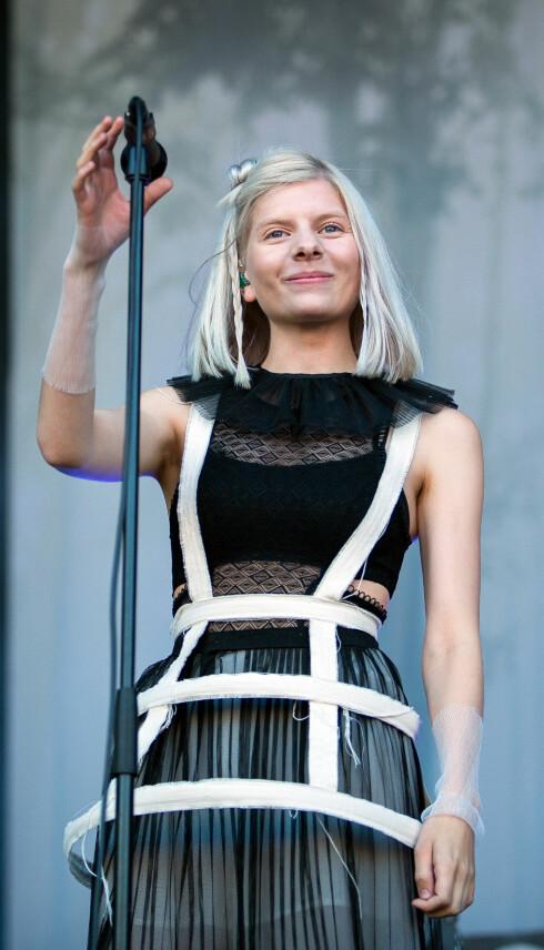 KORT BLONDT HÅR: Det er flere kjente damer som har kort, kaldt hår. En av dem er hele Norges Aurora Aksnes.  Foto: NTB scanpix