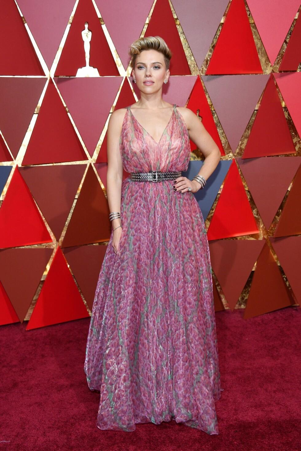 OSCAR 2017: Scarlett Johansson i Alaia Foto: AFP