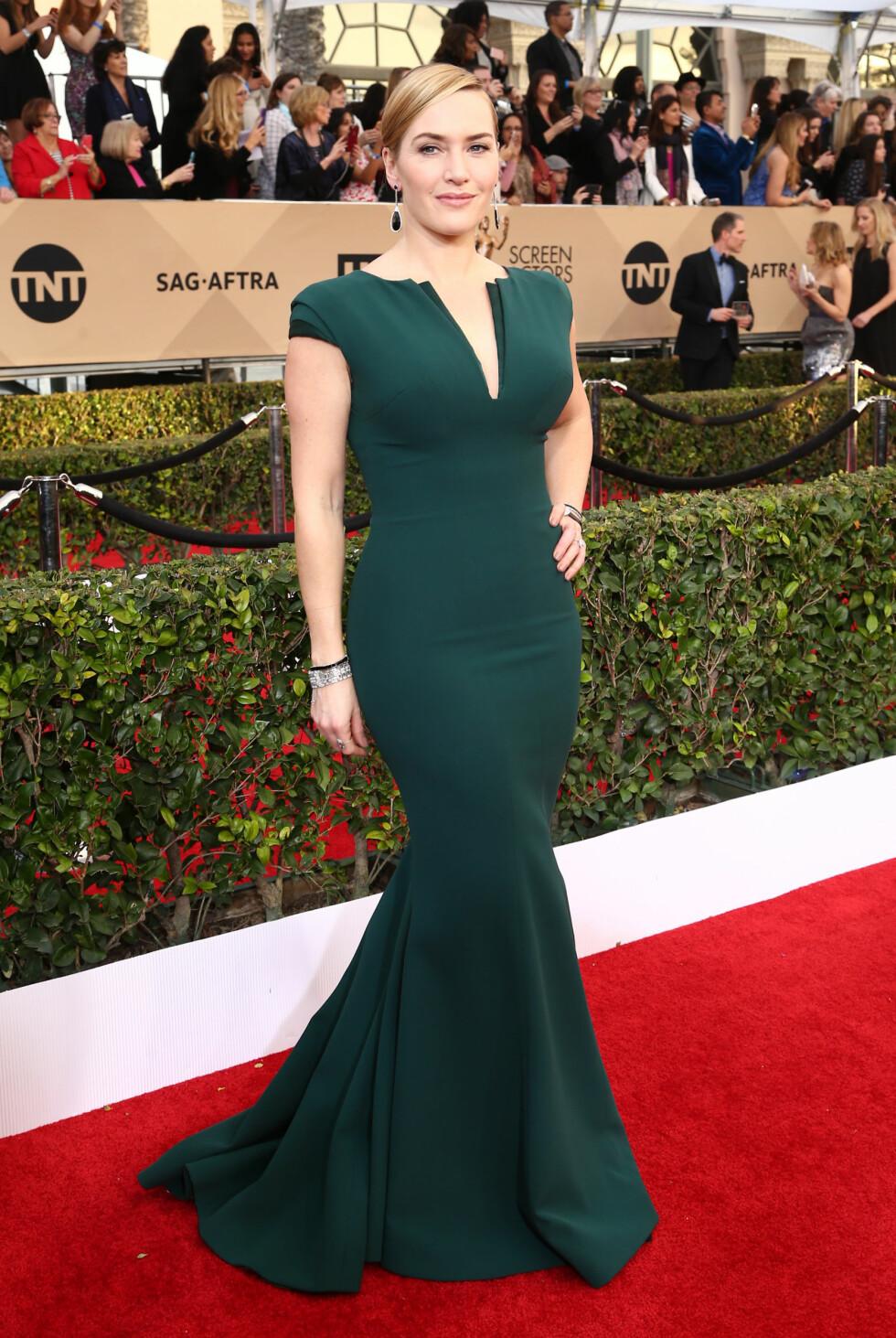 2016: Denne kjolen sitter som støpt på Kate Winslet. Foto: Ap