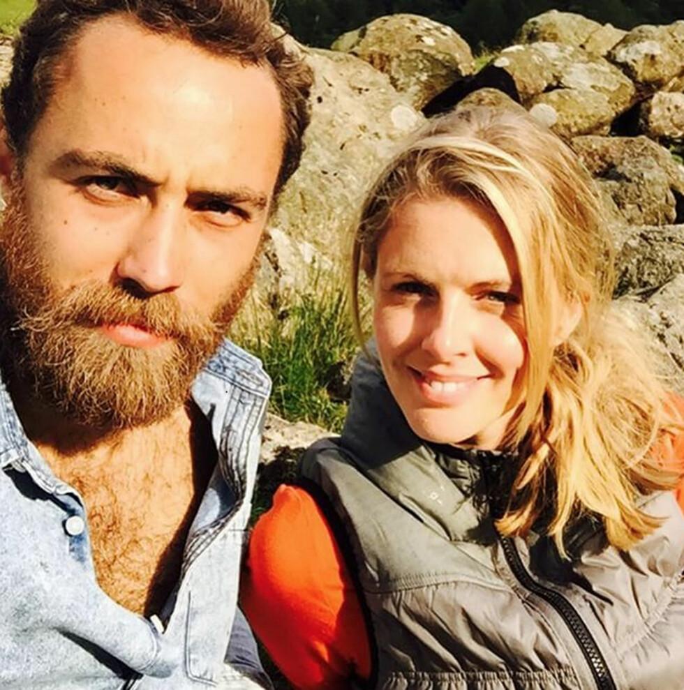 KJÆRESTEN: James Middleton har vært sammen med den britiske TV-profilen Donna Air siden februar 2013.  Foto: NTB Scanpix