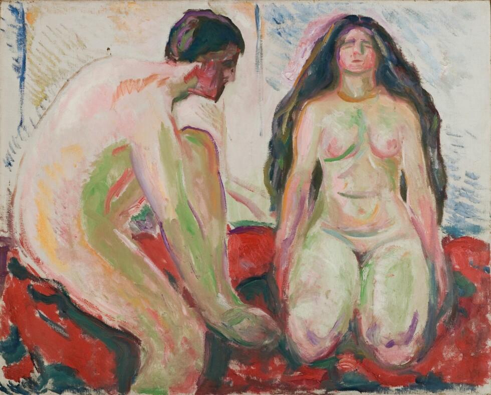 EDVARD MUNCH: «Naken mann og kvinne» (ca. 1913 - 1915). Foto:  Foto: © Munchmuseet