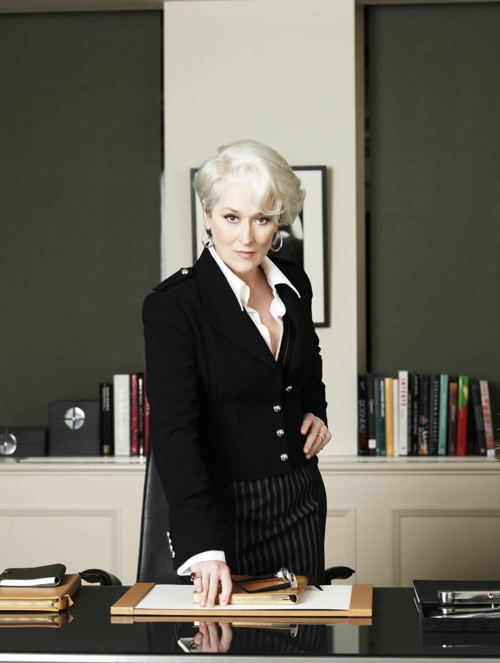 OSCAR-VINNER: Meryl Streep spiller rollen som Miranda Priestley fantastisk. Foto: Mary Evans Picture